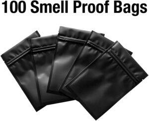 100 pack smart stash mylar bags