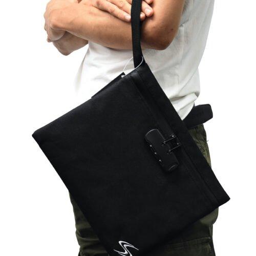 11x9 smart stash bag with combination lock